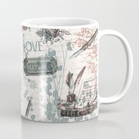 letters Mugs featuring Love Letters by Paula Belle Flores