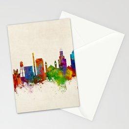 Durham North Carolina Skyline Stationery Cards