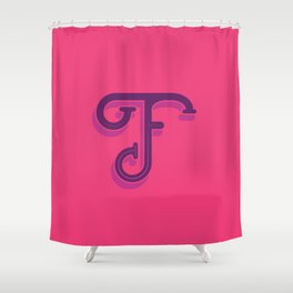 Alphabet Drop Caps Series- F Shower Curtain