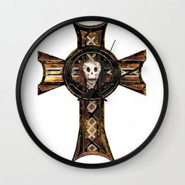Celtic Cross With Skull Wall Clock