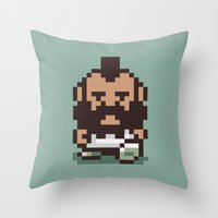 earthbound Throw Pillows featuring Mr. T ... Is that you? Earthbound / Mother 2 by Studio Momo╰༼ ಠ益ಠ ༽