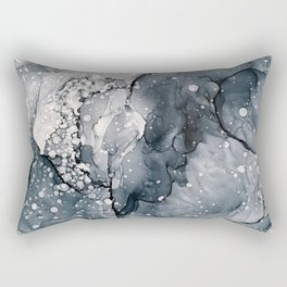 Icy Payne's Grey Abstract Bubble / Snow Painting Rectangular Pillow