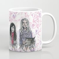 portlandia Mugs featuring Toni And Candace  by LyleO