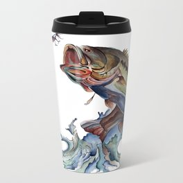 Bass Fish Metal Travel Mug