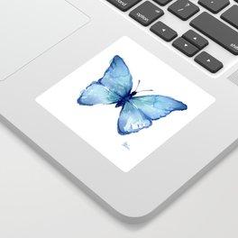 Blue Butterfly Watercolor Sticker