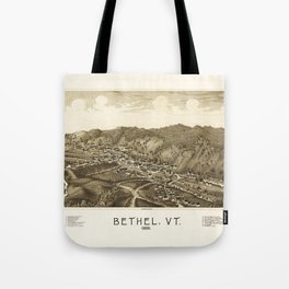 Aerial View of Bethel, Vermont (1886) Tote Bag