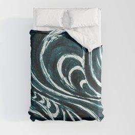 Swirl Ink Teal Comforters