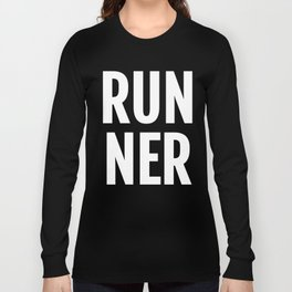 RUNNER Running Marathon Training 5K Jogging Run Long Sleeve T-shirt