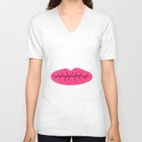 lip V-neck T-shirts featuring lip : idokungfoo.com by simon oxley idokungfoo.com