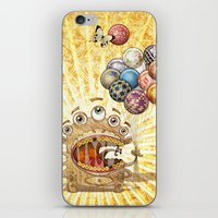 monster iPhone & iPod Skins featuring Monster by José Luis Guerrero