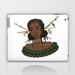 Autumn Oak Goddess • Black Girl Magic in Fall Colors Laptop & iPad Skin