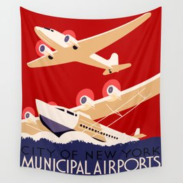City of New York Airports Travel Wall Tapestry