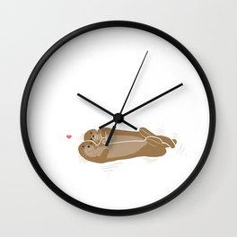 You Otter be in my Arms Wall Clock