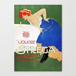 Vintage Italian poster - Dudovich - Liquore Strega Canvas Print
