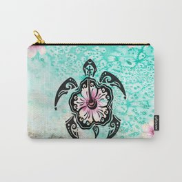 Hibiscus Turtle Carry-All Pouch