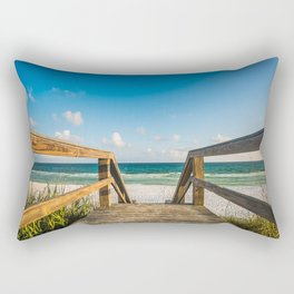 Head to the Beach - Boardwalk Leads to Summer Fun in Florida Rectangular Pillow