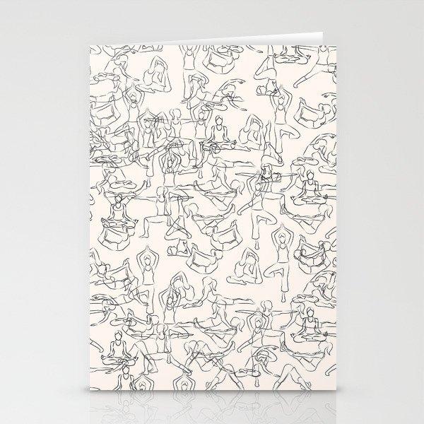Yoga Manuscript Stationery Cards