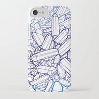 crystals iPhone & iPod Cases featuring Crystals by fossilized