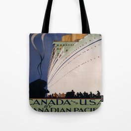 Vintage poster - Canadian Pacific Tote Bag