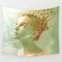 shiva Wall Tapestries featuring The spirit of the forgotten clearing by Ganech joe