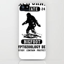 CALIFORNIA BIGFOOT CRYPTOZOOLOGY T-SHIRT iPhone Case