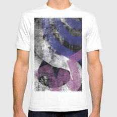 Abstract SW MEDIUM Mens Fitted Tee White