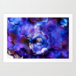 Ultra Violet abstract 1 Art Print