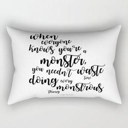 monster (kaz brekker) Rectangular Pillow