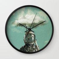 rain Wall Clocks featuring Rain by Seamless