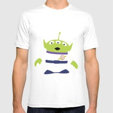 Toy Story Alien White MEDIUM Mens Fitted Tee