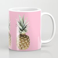 pineapples Mugs featuring Pineapples by Yilan