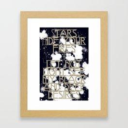 Daggers Framed Art Print