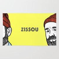 steve zissou Area & Throw Rugs featuring Zissou #2 by Daniel Feldt