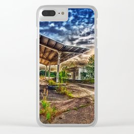 Abandoned Garage Clear iPhone Case
