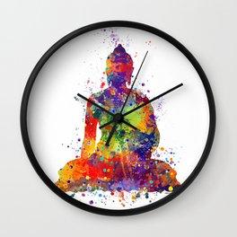 Buddha Watercolor Yoga Poster Zen decor Wall Clock