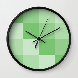Four Shades of Green Square Wall Clock