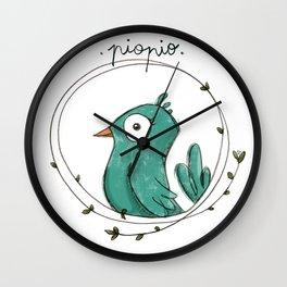 Piopio Blue Wall Clock
