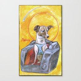Laika: Space Dog Canvas Print