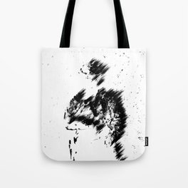 Abstract Soldier (Black) Tote Bag