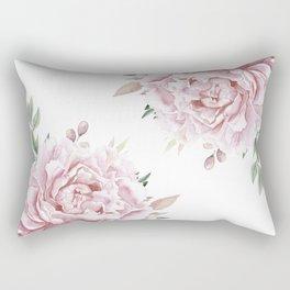 Pink Roses Duet Rectangular Pillow