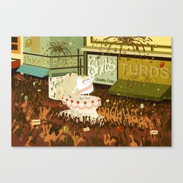A Poo Parade Canvas Print