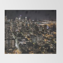 Seattle from the Space Needle Throw Blanket