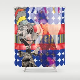 Fashionable Cat in the Hat Shower Curtain