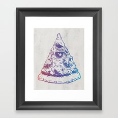 All Seeing Pizza Framed Art Print