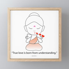 Little Buddha blowing kisses Framed Mini Art Print