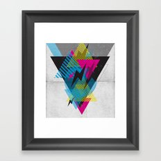 Shape Shock Framed Art Print