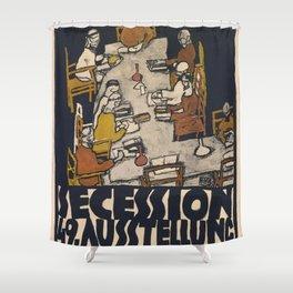 "Egon Schiele ""Secession 49. Exhibition"" Shower Curtain"