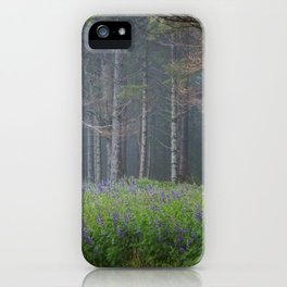 Lupines At The Forest's Edge iPhone Case