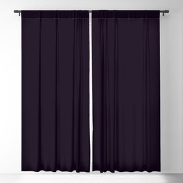 """""""Almost Black"""" Purple Solid Blackout Curtain"""