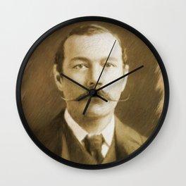 Sir Arthur Conan Doyle Wall Clock